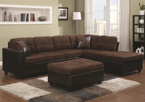 Coaster Home Furnishings Casual Sectional Sofa, Cream