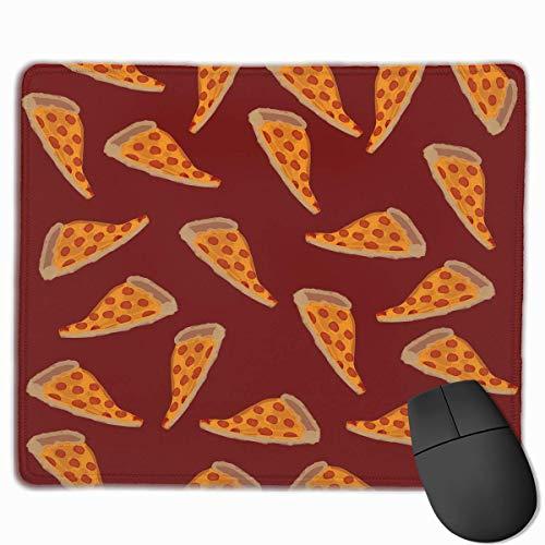 Delicious Pizza Personalized Design Mouse Pad Gaming Mouse Pad mit vernähten Kanten Mauspad, rutschfeste Gummiunterseite, 24,8 x 30,5 cm, 3 mm dick - Best Gift Idea