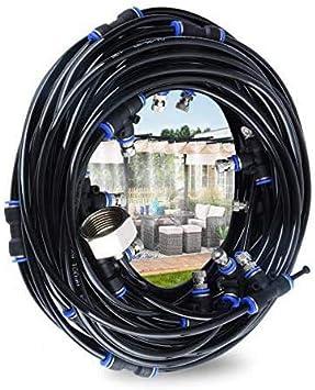 Hydrogarden Kit Nebulizadores para Terrazas,Sistema de Nebulizacion para Exteriores jardín Pergola, DIY automático riego para Invernaderos, Jardines, Terrazas y Césped(18M)