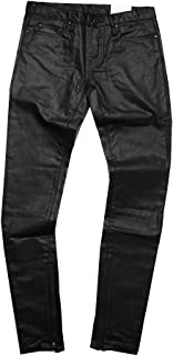 (ミニマル) mnml M11 レザー風 コーティング スキニー デニム パンツ ブラック 黒 STRETCH DENIM BLACK