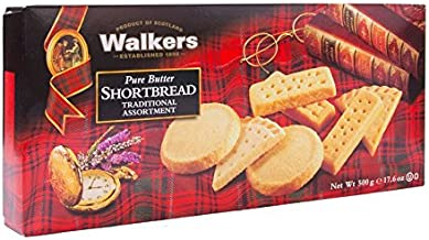 Walkers Shortbread Pure Butter Traditional Assortment, Traditional Butter Shortbread Cookies, 17.6 Ounce (Pack of 1)
