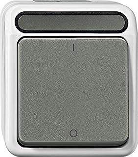 Merten MEG3112 8029 Ausschalter, 2 polig, lichtgrau, AQUASTAR