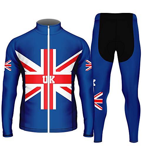 WAWNI Fashion fietsbroek met lange mouwen Mannen Polyester MBT fietsshirt en broek