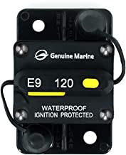 12V-42VDC 120 Amp Circuit Breaker with Manual Reset for Car Truck RV ATV Marine Boat Vehicles By Genuine Marine (120A)