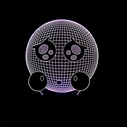 baby Q LED 3D Illusion Lampe, Lampe visuelle colorée de Contact, lumières acryliques de Cadeau, lumière d'alimentation d'USB