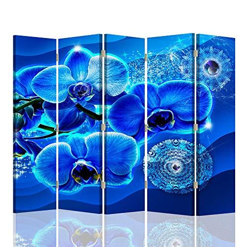 F FEEBY WALL DECOR Foto Biombo Abstracción 5 Paneles Unilateral Flore