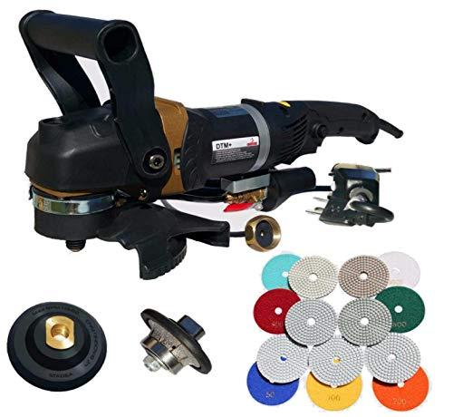 "Stadea SWP110K Granite Bullnose Fabrication Tools Package Kit - 5"" Stone Wet Polisher, 4"" Diamond Granite Polishing Pads, Profile Wheel for Granite Edge Shaping and Polishing"