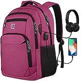 Laptop Rucksäcke mit USB-Ladeanschluss Herren Damen für Arbeit Schule Uni Schulrucksack für Jungen Teenager mit Laptopfach und Anti Diebstahl Tasche