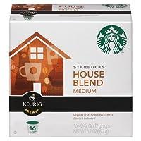 スターバックス Starbucks ハウスブレンド コーヒー 16個入 Kカップ Keurig キューリグ専用 K-Cupパック スタバ [並行輸入]