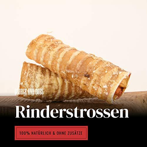 George & Bobs Rinderstrossen - 1000g - 12cm - Geruchsarm - 100% Rind - Kein Import - Beste Qualität