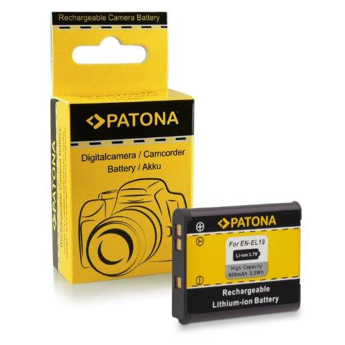 Batería EN-EL19 para Nikon Coolpix S100 | S2500 | S2550 | S2600 | S2700 | S2750 | S3100 | S3200 | S3300 | S3500 | S4100 | S4150 | S4200 | S4300 | S5200 | S6400 | S6500