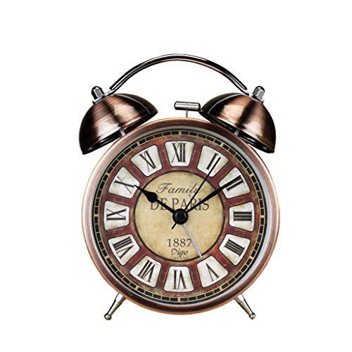 Luz nocturna analógica Reloj despertador silencios Reloj despertador creativo Reloj de alarma con silenciador Reloj de alarma de cabecera Reloj despertador de cabecera Suministros para el hogar Reloj