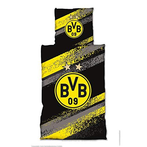 Borussia Dortmund BVB-Bettwäsche Graffiti Streifen one Size