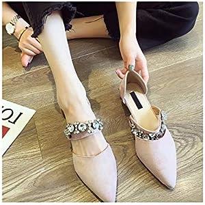 kylebetter2 Single Shoes Female Pointed Wild Korean Wind Rhinestone Flat Shoes