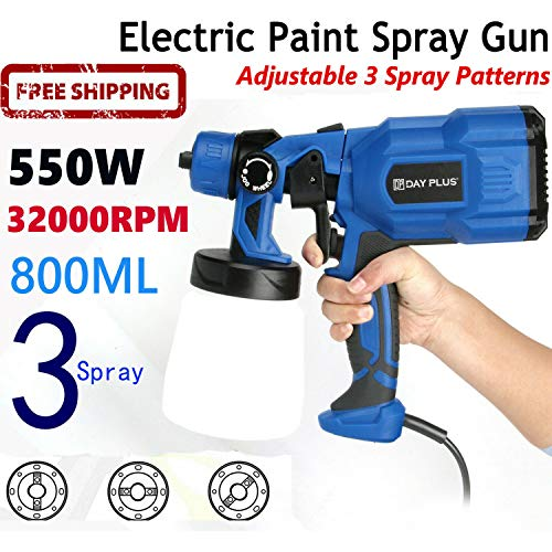 Universal Paint Sprayer, 550W Electric Sprayer for Wall & Ceiling/Wood & Metal Paint Hand Held Spray Gun System Fence Sprayer, 800ml Paint Cups, 3 Painting Modes, Adjustable Valve
