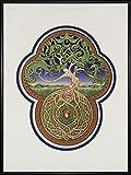 Celtic Tree of Life- Digital Art Print - Tree - Green - Arbor - Big Tree - Great Oak - Acorn - Irish art - yggdrasil