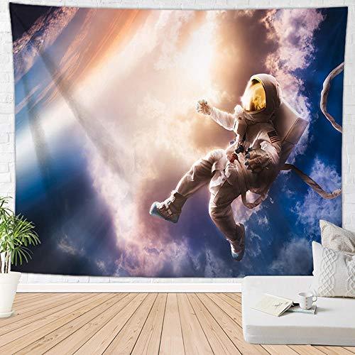 haoyunlai Tapicería Astronauta impresión para el hogar decoración la Pared Colgante la Pared Tiro Yoga Alfombra Dormir tapices Viaje tapices esteras Planetas Grandes colchas-FGT1813_150 * 100 cm