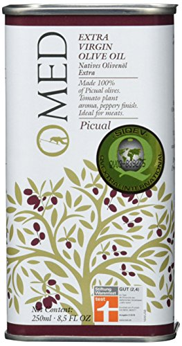 O-MED Natives Olivenöl Picual, MittelFruchtig, 1er Pack (1 x 250 ml)