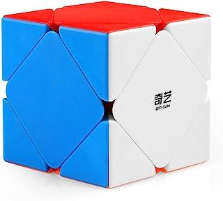 Coogam Qiyi Qicheng Skewb Cube Stickerless Skewb Speed Cube Shapes Puzzle Toy(Qicheng Version)