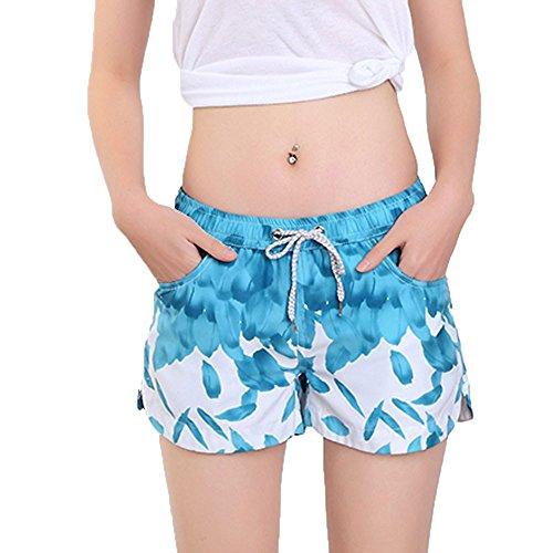 VODMXYGG Pantalones Cortos de natación para Mujer de Secado rápido para Surfear, Correr y Nadar Bañador Vacaciones 0916336
