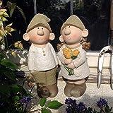 statuette da giardino bill e beryl