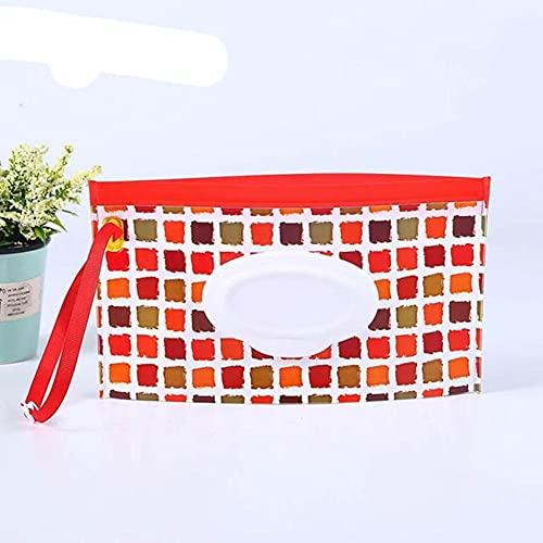 Caja de toallitas húmedas portátiles para bebés Contenedor de toallitas Respetuoso del medio ambiente Fácil de transportar Estuches de toallitas de limpieza cosmética 23 * 13.5CM-cuadrado, China