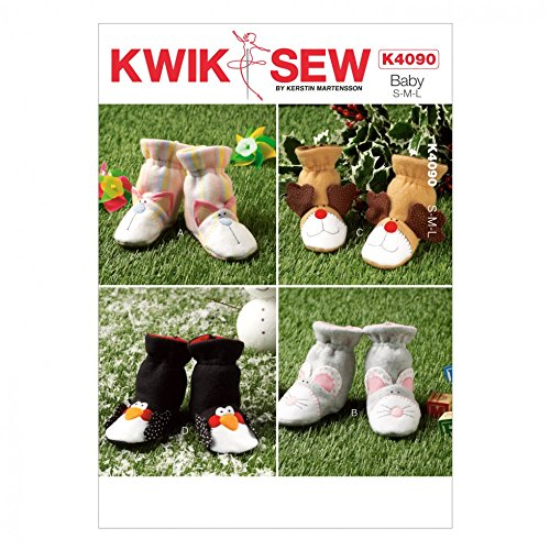Kwik Sew Kinder Leicht Schnittmuster 4090Neuheit Slipper Stiefel + kostenloser Minerva Crafts Craft Guide