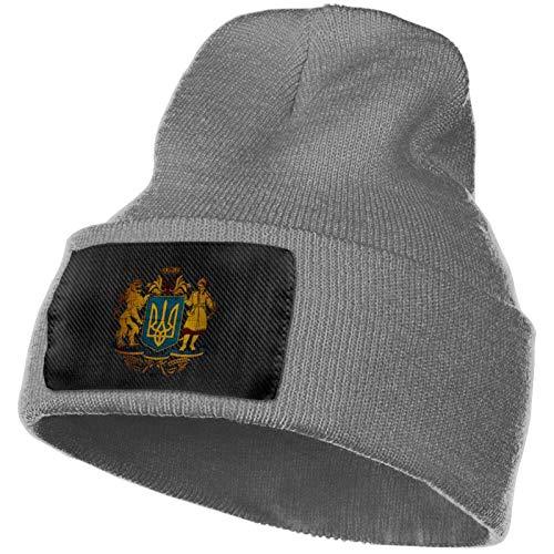AEMAPE Escudo de Ucrania Sombrero de Punto Unisex Gorras de Calavera de Moda Sombreros de Tejer