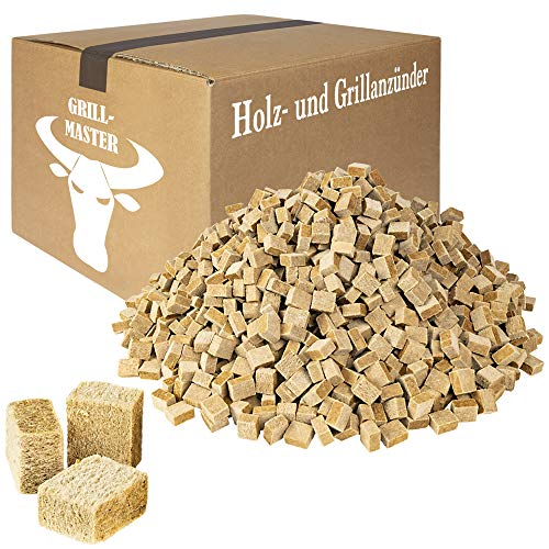 Grillmaster Anzündwürfel OKÖ Bio Kaminanzünder Grillanzünder Grill Holz Wachs Anzünder 10 kg