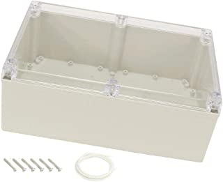 YXQ Enclosure Junction Box Transparent Cover,9.4 x 6.3 x 4.7 inch IP65 Waterproof ABS Project Case
