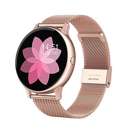 WSZ Smart Watch Monitor de presión arterial Fitness Tracker ECG PPG Monitor de ritmo cardíaco impermeable IP67 Seguimiento de actividad para hombres mujeres para iPhone Android teléfono oro