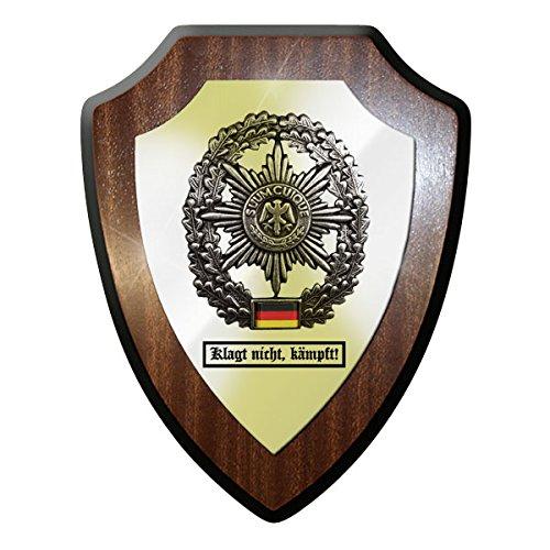 Wappenschild/Wandschild - Klagt nicht, kämpft! Feldjäger Suum Cuique MP Militär Polizei Barettabzeichen Metall Bundeswehr Bund Bw Deutschland Emblem Abzeichen - #11753