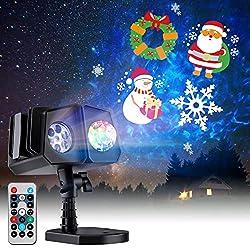 top 10 projector light show on wall indoor Minetom Outdoor Christmas Light 26 HD Effect (3D Ocean Wave + Pattern) Waterproof…