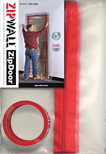 ZipWall ZipDoor Standard Door Kit for Dust Containment, ZDS, 4' X 7.5'