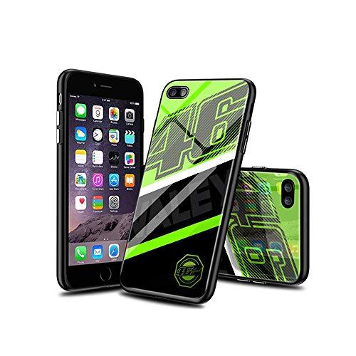 CBiBaMEi iPhone 6S Cover, iPhone 6 Cover, Antiurto Modello Cover Posteriore in Vetro Temperato Morbido TPU Bordo in Silicone Bumper Case per iPhone 6S / iPhone 6#C007