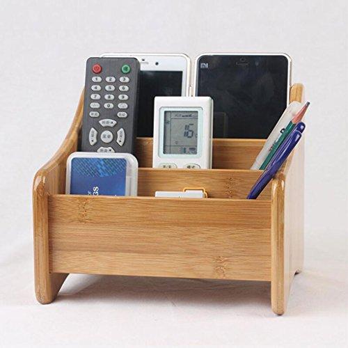 Coffrets de maquillage Bamboo Cosmétiques boîte de Rangement TV télécommande boîte de Rangement Dressing Tables Bureau cosmétique boîte de Rangement étagère (Conception : B Style)