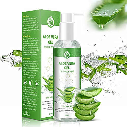 Gel d'Aloe Vera 100%, Gel Hydratant Visage & Corps...