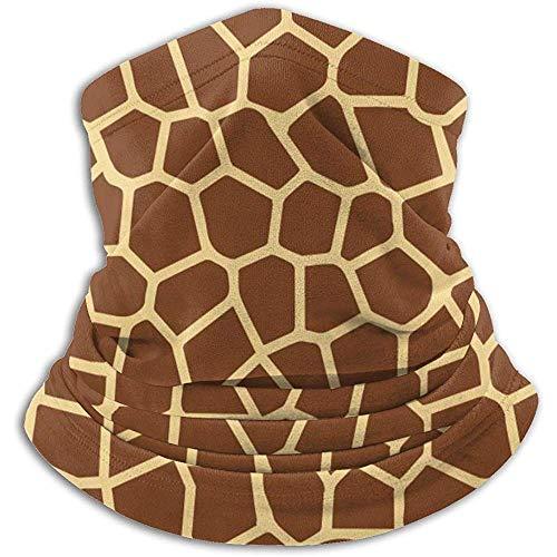 ZTCLXJ Turbante facial adecuado para calentador de cuello, patrón de textura de jirafa de dibujos animados para exteriores, gorro de lana, gorras de esquí para la nieve