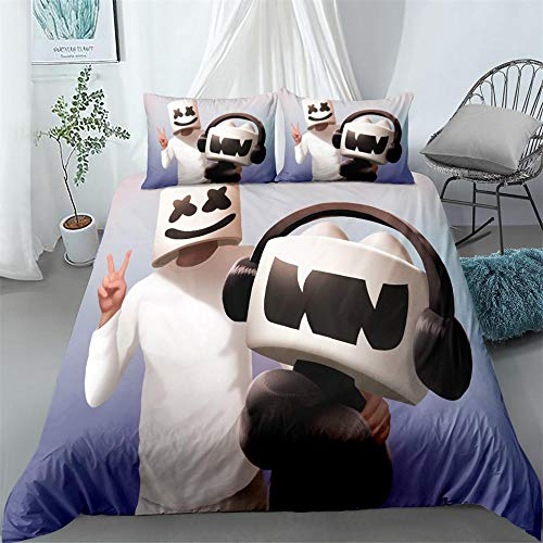 Erbaeo 100% Pure Cotton 4 Piece Complete Double Duvet Bed Set In - Cartoon Anime Character - Includes X1 Duvet Cover X2 Pillowcases And X1 Fitted Sheet Single: 135X200Cm
