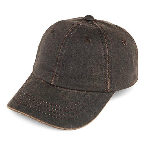 Village Hats Casquette en Coton à Effet Usé Dorfman Pacific - Brun - Ajustable