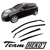 J&J AUTOMOTIVE | Deflecteurs d'air Déflecteurs de Vent Compatible avec Golf 6 VI 2008-2012 HTB 4pcs