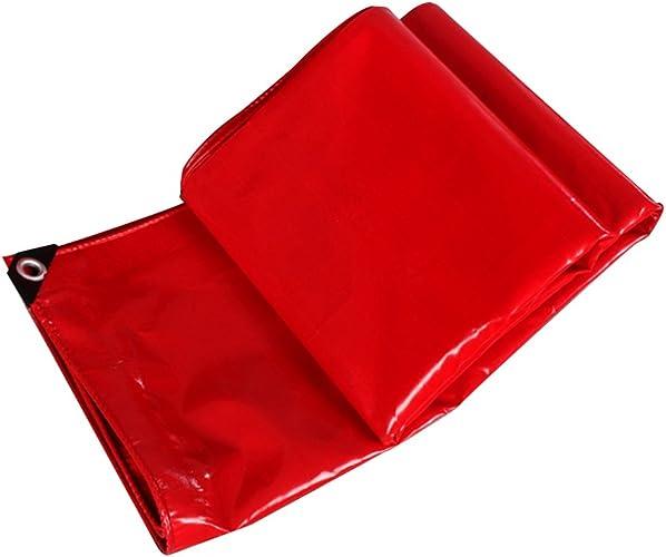 Bache Bache rouge bache imperméable à l'eau de bache de prougeection imperméable à l'eau de bache de prougeection de bache de prougeection ultra-légère de tricycle, épaisseur 0.48mm, 450g   m2, 10 options d