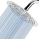 "Voolan 8"" High Pressure Rain Shower Head - 304 Stainless Steel Rainfall Shower Heads - Comfortable Shower Experience Even at Low Water Flow (Chrome,Round)"