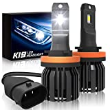 H11/H9/H8 Led Headlights Bulbs, SUPAREE K19 Single Beam Headlamp with Fan, 9600lm 6000K Cool White High Beam/Low Beam/Fog Light Bulb (2 Pack)