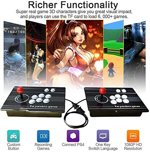 MISTLI 3D Home Arcade Consola De Juegos, La Caja De Pandora Litera 1080P Videojuegos Retro De Doble Arcada Consola 2350 Juegos Clásicos En Una Sala De Juegos, SZ-04