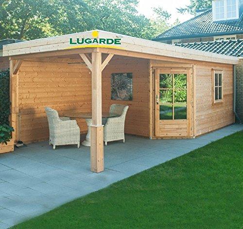 Lugarde Gartenhaus Fynn aus Fichtenholz NEU mit angrenzender Gartenlaube