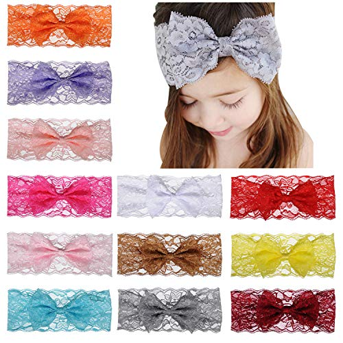 bandeau strass lot de 3 Baby girl bow rose rouge blanc Polka Dot headbands