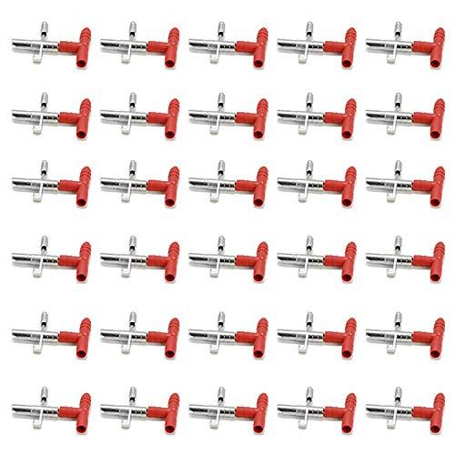 DEDC 30 pz Abbeveratoio Mangiatoia Automatico Roditore di Acqua Capezzolo per Coniglio Topi, Alimentatore Automatico di Acqua per Uccelli Pollame Sistema di Irrigazione