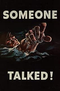 New Someone Talked WPA War Propaganda Mural Giant Poster 8 x 12 inchas a Gift