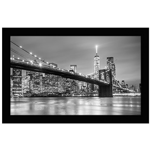 Americanflat Picture Frame in Black Wood with Shatter Resistant Glass - Horizontal and Vertical Formats for Wall - 8.5' x 14'